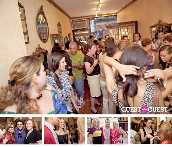 VIP Guests crowd Patty Tobin's Chelsea boutique on Weds night to get a sneak peak at the designer's latest and greatest creations