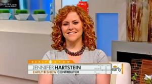 Dr. Jen Hartstein wearing Amethyst Torsade by Patty Tobin on the CBS Early Show on Thursday, July 22nd