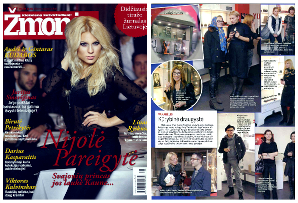 Zmones (People magazine Lithuania) covers Patty Tobin's debut in Eastern Europe.