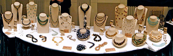 Patty Tobin Fine Fashion Jewelry on display at the United Nations Bazaar