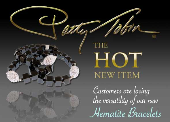 Hematite Bracelets are the Hot New Item at Patty Tobin