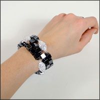 Patty Tobin Hematite Bracelets on my wrist
