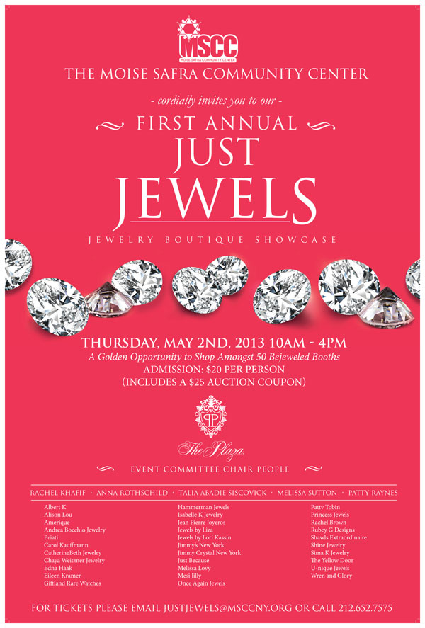 Just Jewels jewelry boutique shocase event May 2nd at The Plaza Hotel