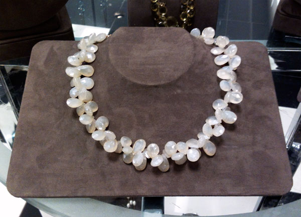 White Chalcedony necklace by Patty Tobin