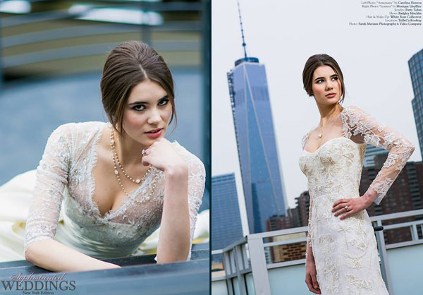 Patty Tobin Bridal Jewelry in wedding magazine