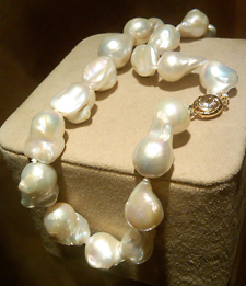 Mother of the bride necklace of south sea pearls
