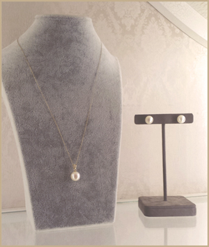 south sea pearl necklace and earrings by patty tobin