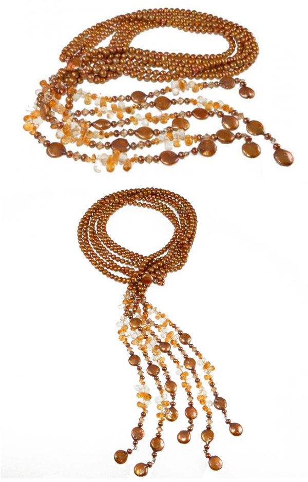 patty tobin pearl and gemstone lariat necklace fall fashion jewelry 2015
