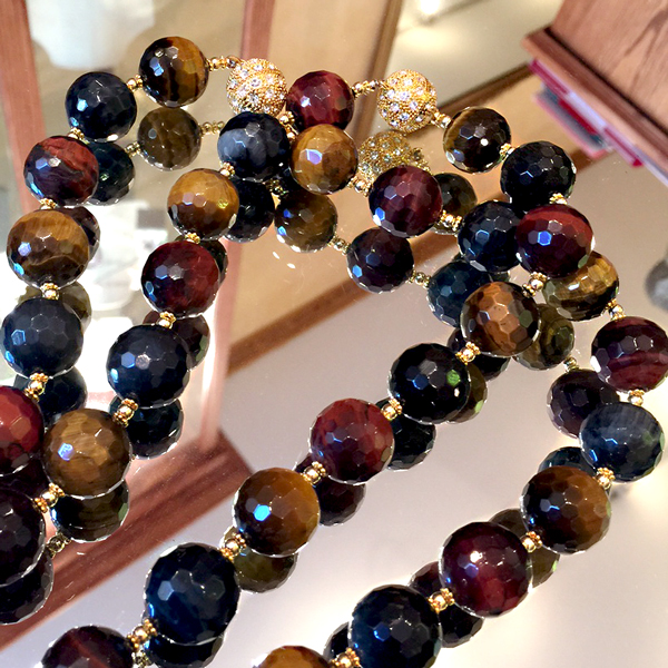 patty tobin multicolor tiger eye gemstone jewlery fall fashion 2015