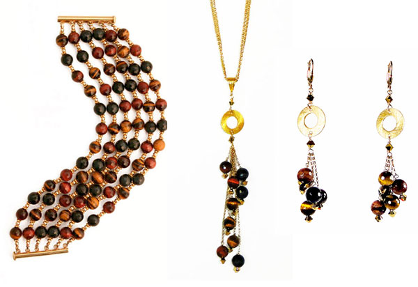 patty tobin fall 2015 fashion jewelry multicolor tiger eye gemstone jewelry