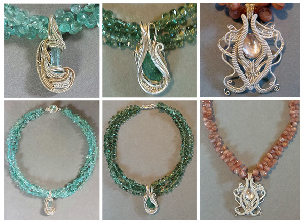 Patty Tobin Sterling Silver Spiral Pendant Necklaces