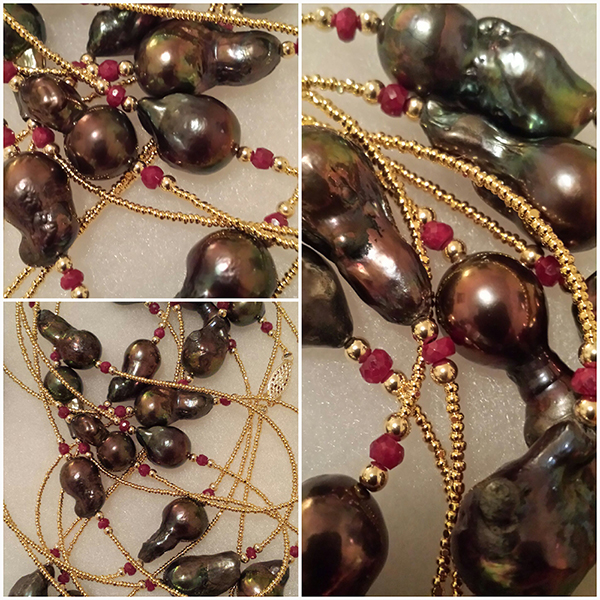 Tahitian South Sea Pearl Rope by Patty Tobin