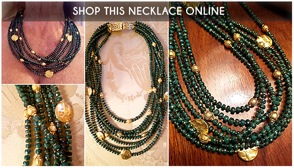 Patty Tobin Emerald Statement Necklace