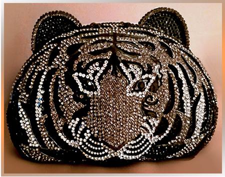 Patty Tobin Crystal Evening Bag in Tiger