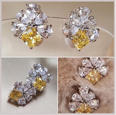 Patty Tobin CZ Clip-On Earrings