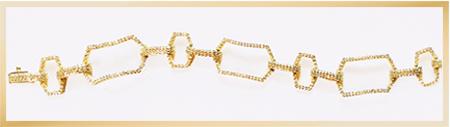 Patty Tobin CZ Link Bracelet in Gold