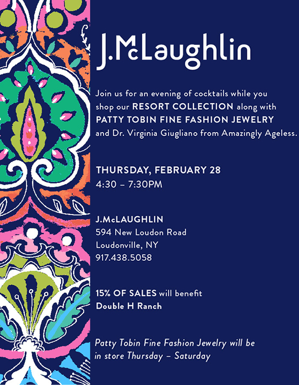 J. McLaughlin Hosts Patty Tobin for Trunk Show | Reception Feb. 28th