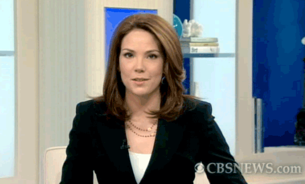 CBS Early Show Anchor, Erica Hill, wearing Patty Tobin necklace