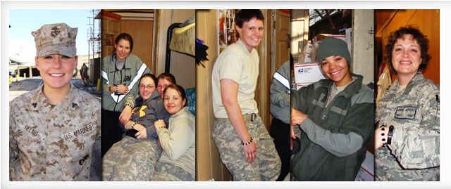 Women in the military wearing their Shining Service Bracelets
