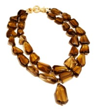 Whiskey Topaz Necklace by Patty Tobin