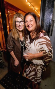 Patty Tobin and Nina Fuentes on Fashion's Night Out 2011.