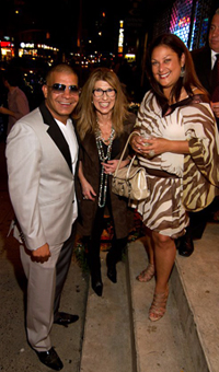 Prince Malik, Patty Tobin and Nina Fuentes on Fashion's Night Out 2011