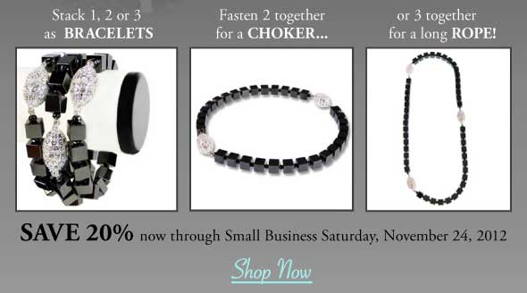 Wear Patty Tobin Hematite Bracelets on Your Wrist or Together as a Necklace!