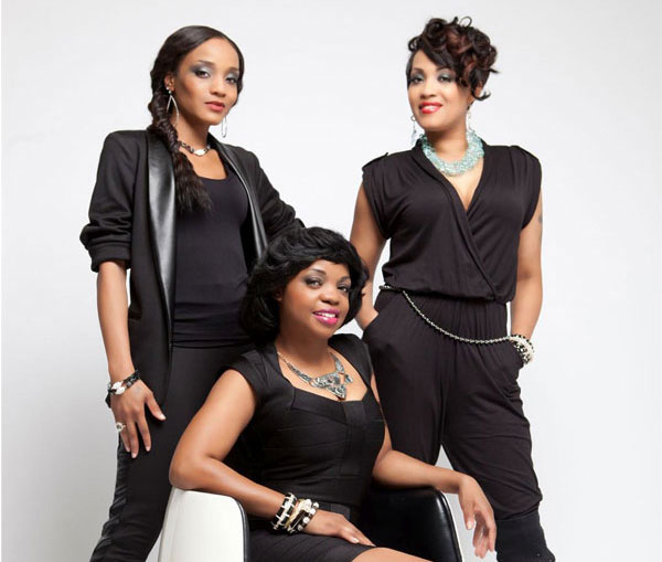 R&B group, Allure, wearing Patty Tobin jewelry in Platinum Style Magazine