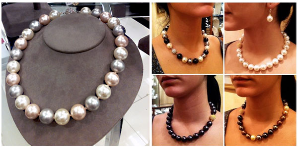 Shell Pearl necklace by Patty Tobin
