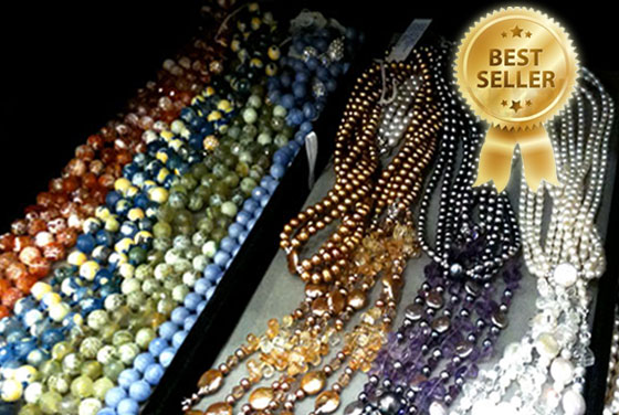 Fire agate ropes by Patty Tobin  at bloomingdales