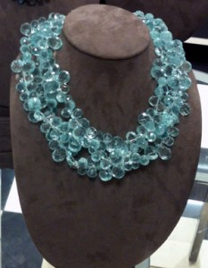 Aqua quartz statement necklace by patty tobin