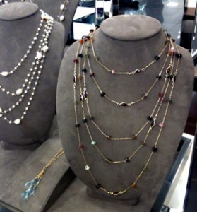 Gemstone chains by Patty Tobin