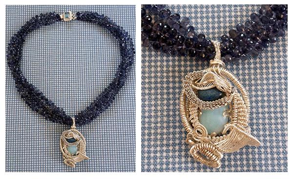patty tobin summer 2016 iolite wire-wrap necklace