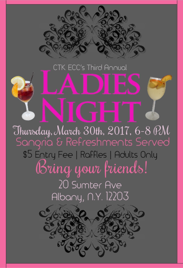 Ladies Night March 30, 2017 6-8pm Albany NY