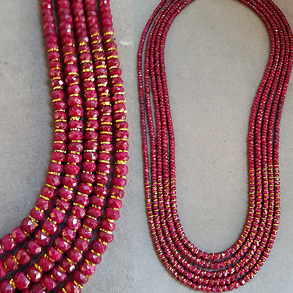 rubies with 22k gold by patty tobin