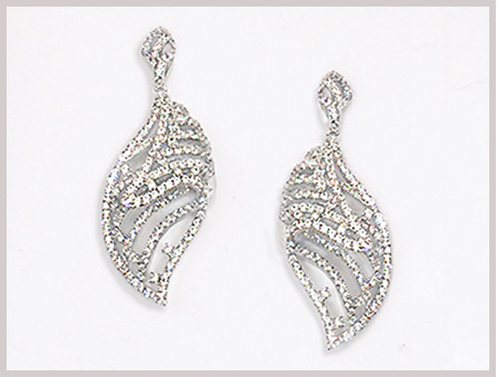 Patty Tobin CZ Spiral Statement Earring