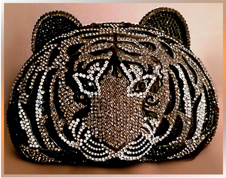 Patty Tobin Crystal Evening Bag in Tiger