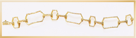 Patty Tobin CZ Link Bracelet in Gold